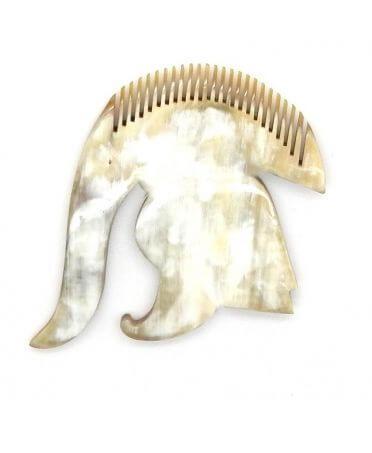Peigne casque de légion romaine - corne claire - Petit modèle