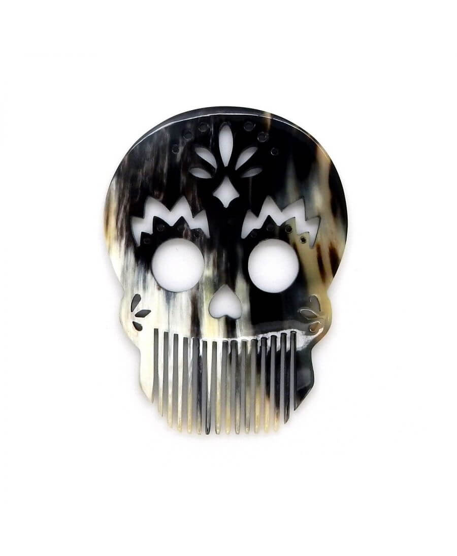 Calavera Joker Comb  -Dark horn