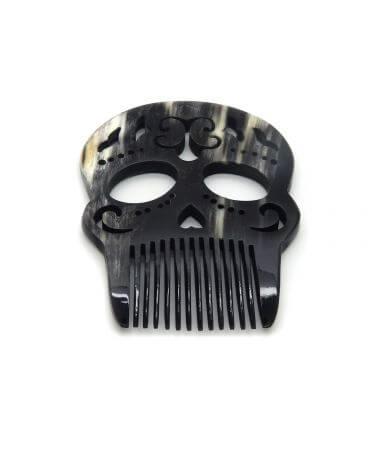 Calavera Arabesque Comb  -Dark horn