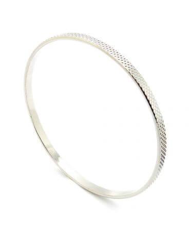 Bracelet jonc quadrillé - Palladié