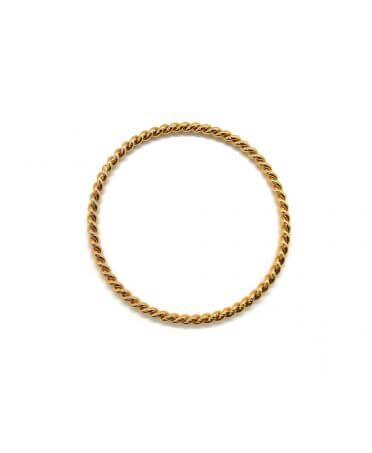 Bracelet jonc diamanté - Or rose