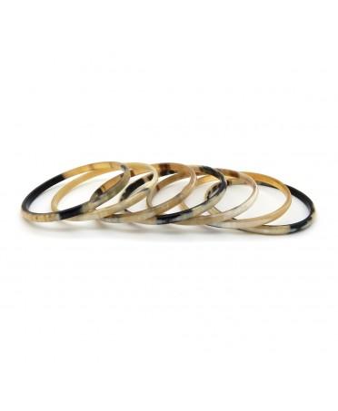 Bracelets semainier en corne claire