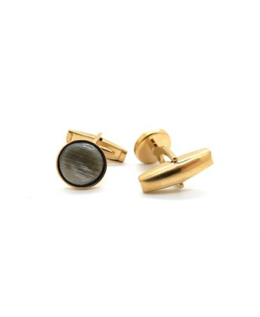 Yellow gold plated cufflinks