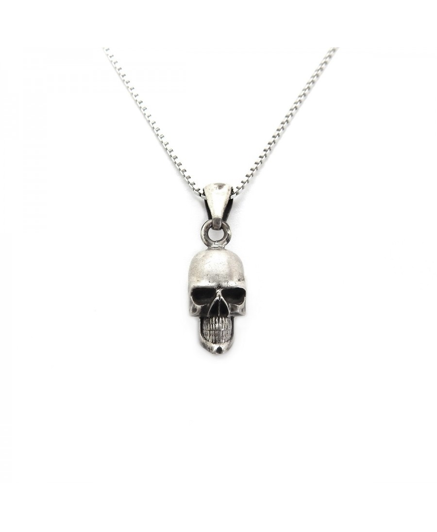 hematite necklaces lazaro soho jet skull mens king necklace