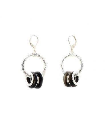 Boucles d'oreilles anneau Grand modèle -Désir