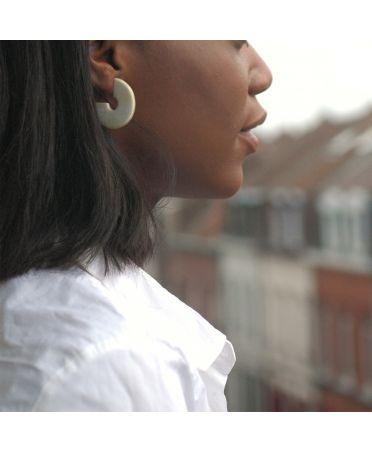 Boucles d'oreilles disque - Désir