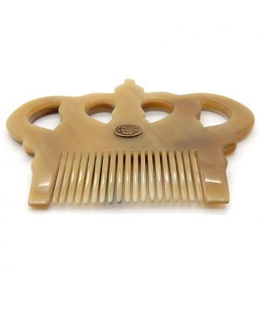 Peigne avec manche pour cheveux bouclés- corne claire