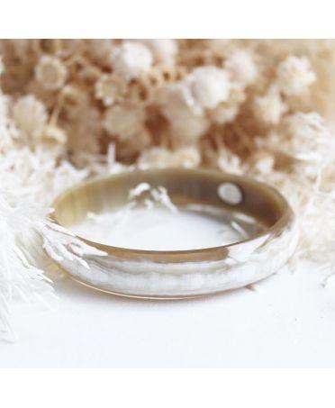 Horn bangle bracelet 15mm