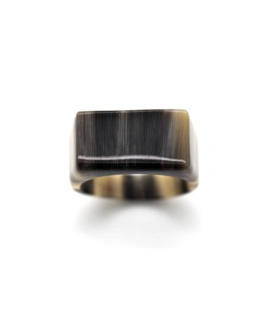 Classic horn signet ring