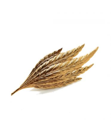 Feather hat pins - 24k gold...