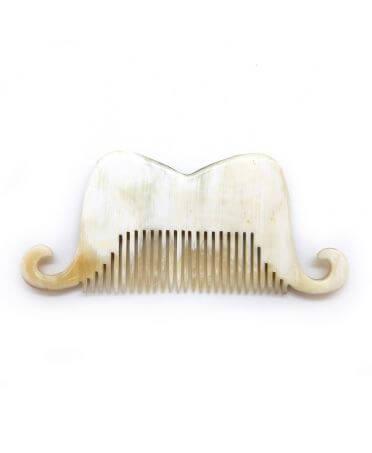 Peigne Moustache Portugal - corne claire