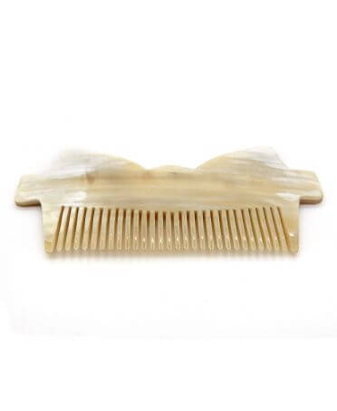 Large Bow Tie Comb -Dark horn