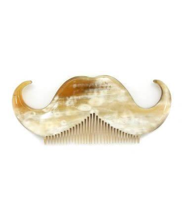 Peigne moustache Crocs - Corne claire