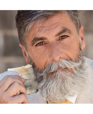 Peigne moustache crocs- corne foncée